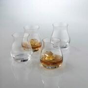 Wine Enthusiast 7811104 Glencairn Wide-bowl Whiskey Glasses, 4 Pk