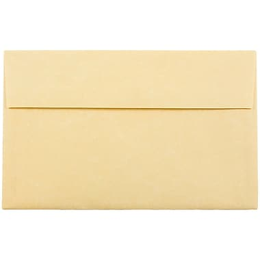 JAM Paper® A10 Invitation Envelopes, 6 x 9.5, Parchment Antique Gold Yellow Recycled, 1000/carton (12514B)