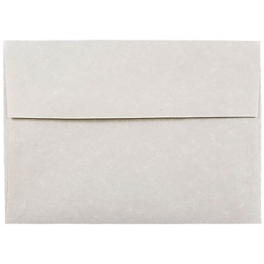 JAM Paper® A7 Invitation Envelopes, 5.25 x 7.25, Parchment Pewter Grey Recycled, 25/pack (35061)