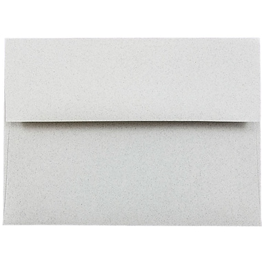 JAM Paper® A6 Invitation Envelopes, 4.75 x 6.5, Granite Grey, 25/pack (71185)