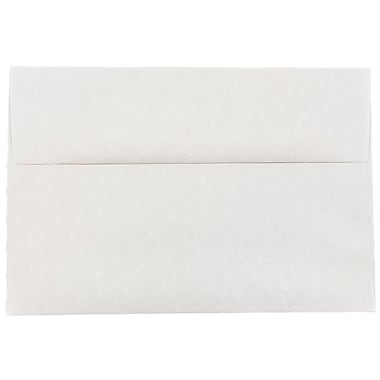 JAM Paper® A8 Invitation Envelopes, 5.5 x 8.125, Parchment Pewter Grey Recycled, 25/pack (91304)