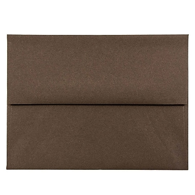 JAM Paper® A2 Invitation Envelopes, 4 3/8 x 5 3/4, Chocolate Brown Recycled, 1000/carton (233709B)