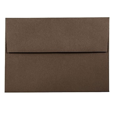 JAM Paper® A6 Invitation Envelopes, 4.75 x 6.5, Chocolate Brown Recycled, 1000/carton (233710B)