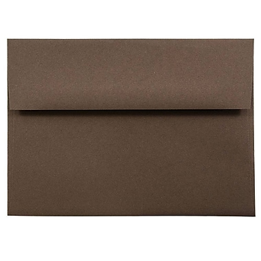 JAM Paper® A7 Invitation Envelopes, 5.25 x 7.25, Chocolate Brown Recycled, 1000/carton (233711B)