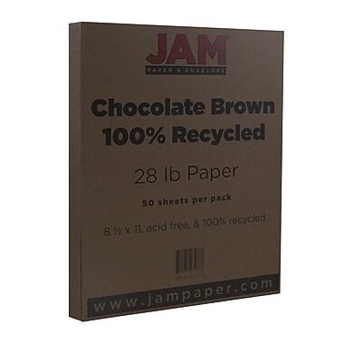 JAM Paper® Matte Paper, 8.5 x 11, 28lb Chocolate Brown, 50/pack (233723)