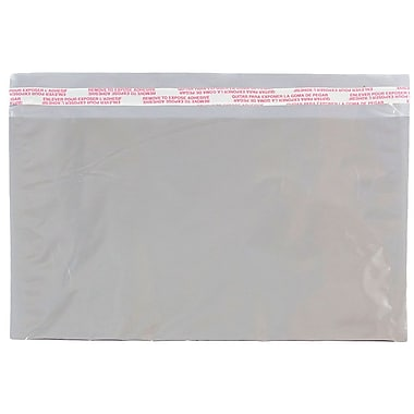 JAM Paper® Foil Envelopes with Self Adhesive Closure, 6 1/8 x 9 1/2, Booklet, Silver, 25/Pack (1323287)