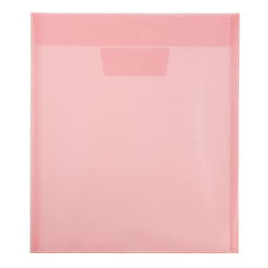 JAM Paper® Plastic Envelopes with Tuck Flap Closure, Letter Open End, 9 7/8 x 11 3/4, Red Poly, 12/Pack (1541733)