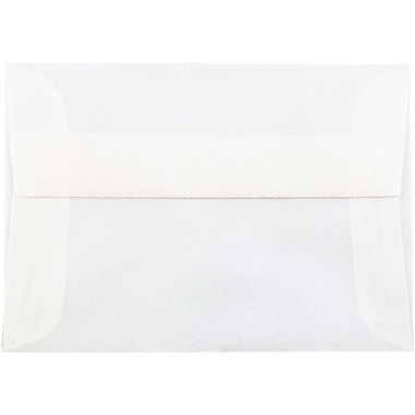 JAM Paper® 4bar A1 Envelopes, 3 5/8 x 5 1/8, Platinum Translucent Vellum, 25/pack (1591590)