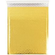 JAM Paper® Bubble Mailers with Peel and Seal Closure, 12 x 15 1/2, Gold Metallic, 12/pack (2745210)