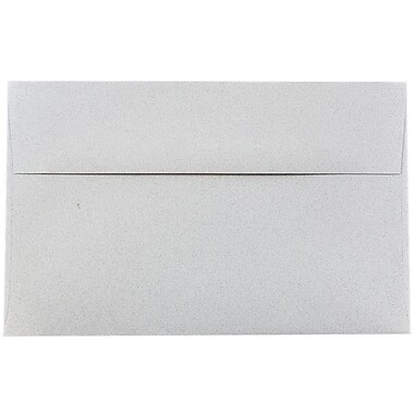 JAM Paper® A10 Invitation Envelopes, 6 x 9.5, Granite Grey Recycled, 1000/carton (02831490B)