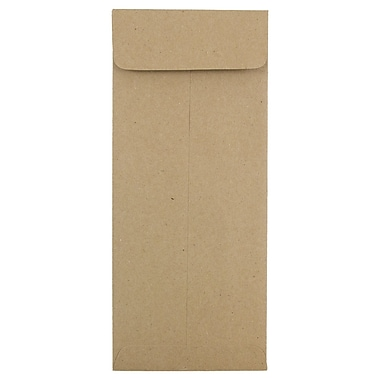 JAM Paper® #10 Policy Envelopes, 4 1/8 x 9 1/2, Brown Kraft Paper Bag, 25/pack (3965615)
