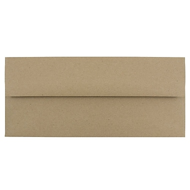 JAM Paper® #10 Business Envelopes, 4 1/8 x 9 1/2, Brown Kraft Paper Bag, 1000/carton (6314842B)