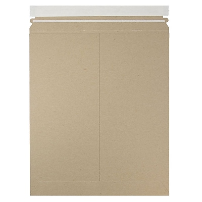 JAM Paper Photo Mailer Stiff Envelopes with Self Adhesive Closure 11 x 13.5 Brown Kraft Recycled Sold Individually 8866644
