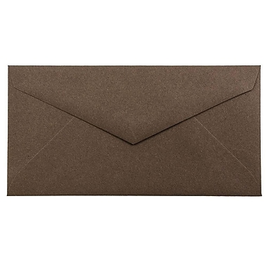 JAM Paper® Monarch Envelopes, 3 7/8 x 7 1/2, Chocolate Brown Recycled, 25/pack (34097602)