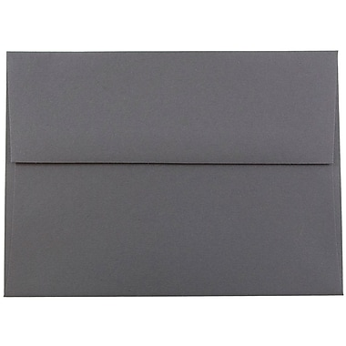 JAM Paper® A6 Invitation Envelopes, 4.75 x 6.5, Dark Grey, 25/pack (36396433)