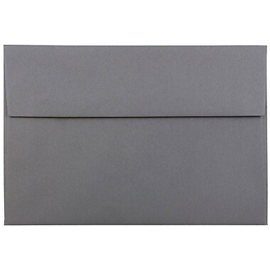 JAM Paper® A8 Invitation Envelopes, 5.5 x 8.125, Dark Grey, 25/pack (36396435)