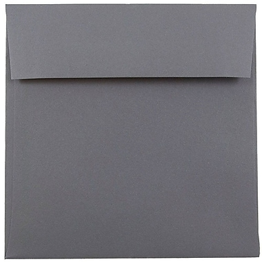 JAM Paper® 6 x 6 Square Envelopes, Dark Grey, 25/pack (36396439)