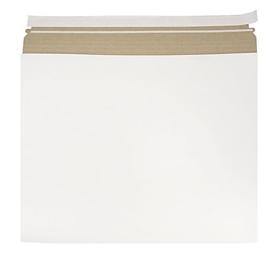 JAM Paper Expandable Photo Mailer 17 x 14 x 1 White Sold Individually 48906708