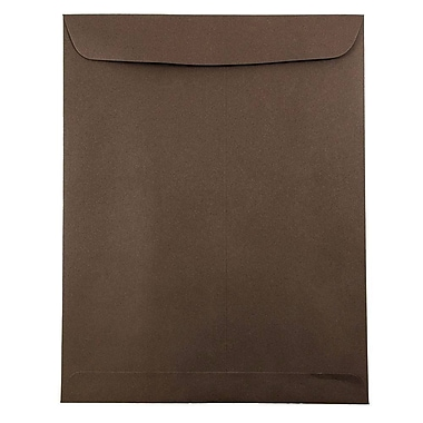 JAM Paper® 9 x 12 Open End Catalog Envelopes with Clasp Closure, Chocolate Brown Recycled, 25/pack (212816044)