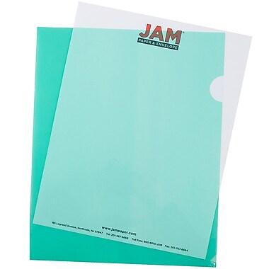 JAM Paper® Plastic Sleeves, 9 x 11.5, Green, 600/box (226325846C)