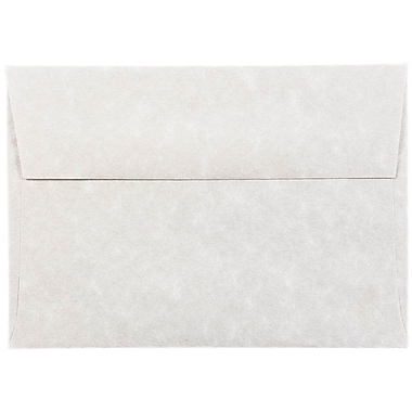 JAM Paper® 4bar A1 Envelopes, 3 5/8 x 5 1/8, Parchment Pewter Grey Recycled, 25/pack (900755334)