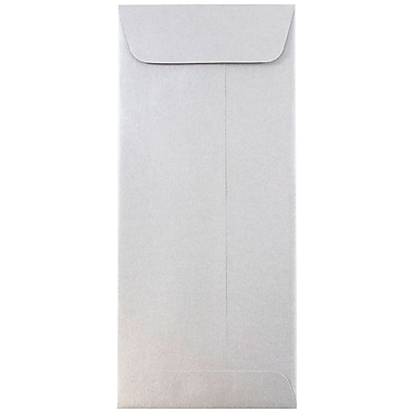 JAM Paper® #10 Policy Envelopes, 4 1/8 x 9 1/2, Stardream Metallic Silver, 1000/carton (900905922B)