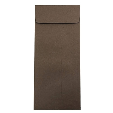 JAM Paper® #12 Policy Envelopes, 4.75 x 11, Chocolate Brown Recycled, 25/pack (900940723)