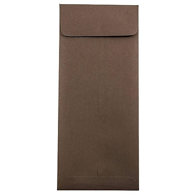 JAM Paper® #10 Policy Envelopes, 4 1/8 x 9 1/2, Chocolate Brown Recycled, 1000/carton (900940724B)