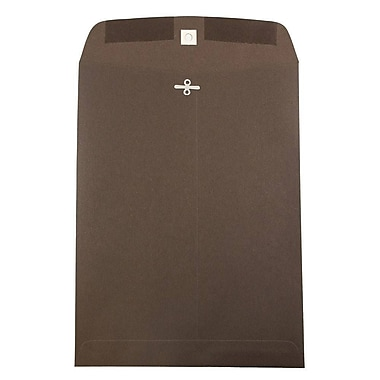 JAM Paper® 9 x 12 Open End Catalog Envelopes with Clasp Closure, Chocolate Brown Recycled, 10/pack (900942416B)