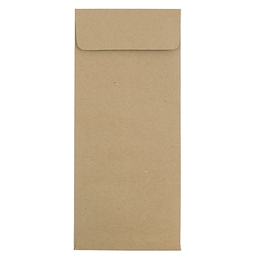 JAM Paper® #12 Policy Envelopes, 4.75 x 11, Brown Kraft Recycled, 25/pack (2119018862)