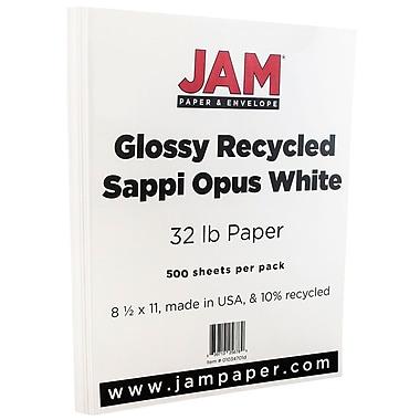 JAM Paper® Glossy Paper, 8.5 x 11, 32lb White, 500/Pack (01034701E)