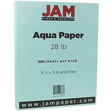 Jam PaperMD – Papier pour imprimante, 28 lb, 8 1/2 x 11 po, turquoise, 500/rame