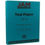 JAM Paper® Matte Paper, 8.5 x 11, 28lb Teal Blue, 500/box (1524383B)