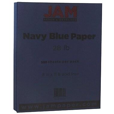 JAM Paper® Matte Paper, 8.5 x 11, 28lb Navy Blue, 500/Pack (156550B)