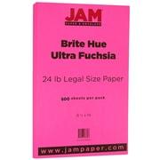 """JAM Paper® 8 1/2"""" x 14"""" Legal Size Paper, Ultra Fuchsia Pink 24lb Brite Hue, 500/Ream (16728246B)"""