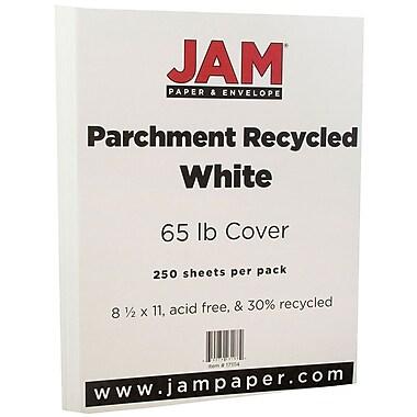 JAM PaperMD – Papier couverture cartonné recyclé parchemin, 8 1/2 x 11 po, blanc, 250 feuilles/rame