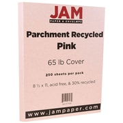 JAM Paper® Parchment Cardstock, 8.5 x 11, 65lb Pink Recycled, 250/ream (171122B)
