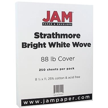 JAM Paper® Strathmore Cardstock, 8.5 x 11, 80lb Bright White Wove, 250/ream (191267B)