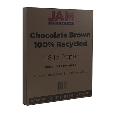JAM Paper® Matte Paper, 8.5 x 11, 28lb Chocolate Brown, 500/Pack (233723B)