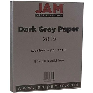 JAM Paper® Matte Paper, 8.5 x 11, 28lb Dark Grey, 500/Pack (26396470B)
