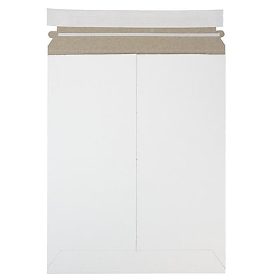 JAM Paper Photo Mailer Stiff Envelopes with Self Adhesive Closure 9 x 11.5 White Recycled Sold Individually 2PSW
