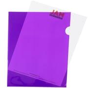 JAM Paper® Plastic Sleeves, 9 x 11.5, Purple, 12/Pack (38OSPU)