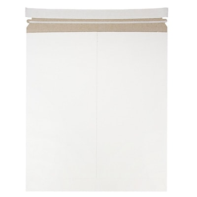JAM Paper Photo Mailer Stiff Envelopes with Self Adhesive Closure 12.75 x 15 White Sold Individually 4PSW