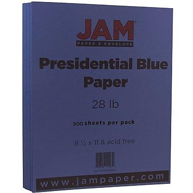 JAM Paper® Matte Paper, 8.5 x 11, 28lb Presidential Blue, 500/Pack (563916924B)