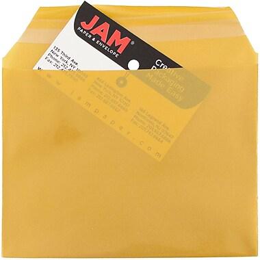JAM PaperMD – Sachets en cellophane, 4 5/8 x 6 3/7 (po), doré, 100/paquet