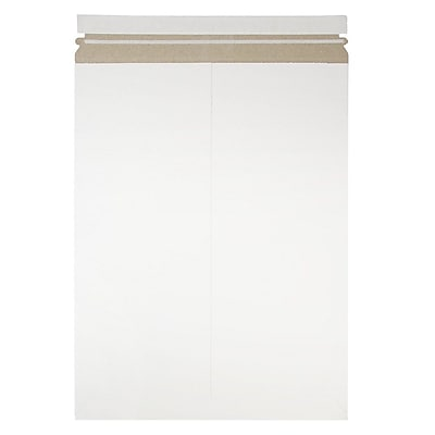 JAM Paper Photo Mailer Stiff Envelopes with Self Adhesive Closure 13 x 18 White Sold Individually 6PSW