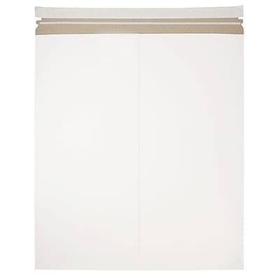 JAM Paper Photo Mailer Stiff Envelopes with Self Adhesive Closure 17 x 21 White Sold Individually 7PSW