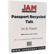 JAM Paper® Recycled Paper, 8.5 x 11, 24lb Talc White, 500/box (872402B)