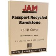 JAM Paper® Recycled Cardstock, 8.5 x 11, 80lb Sandstone Ivory, 250/box (880615B)