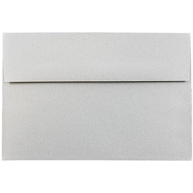 JAM Paper® A8 Invitation Envelopes, 5.5 x 8.125, Granite Grey Recycled, 1000/carton (CPPT755B)